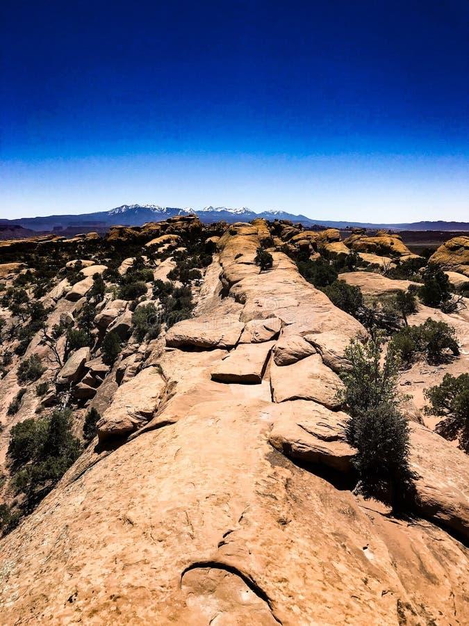Parque nacional dos arcos em uma aleta fotos de stock