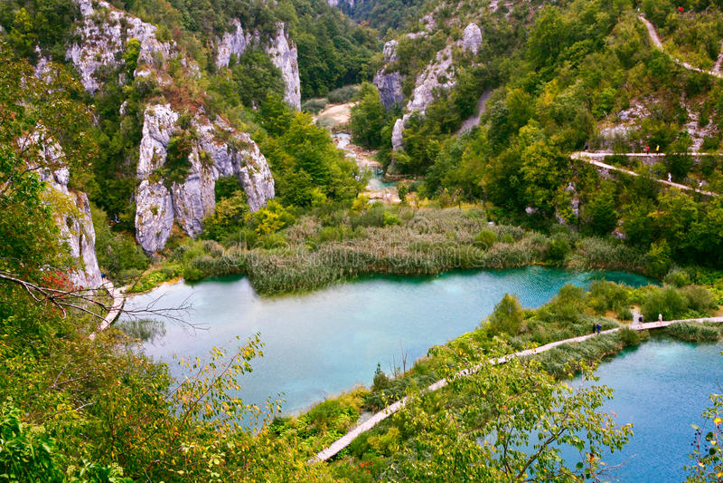 Parque nacional dos lagos Plitvice imagem de stock