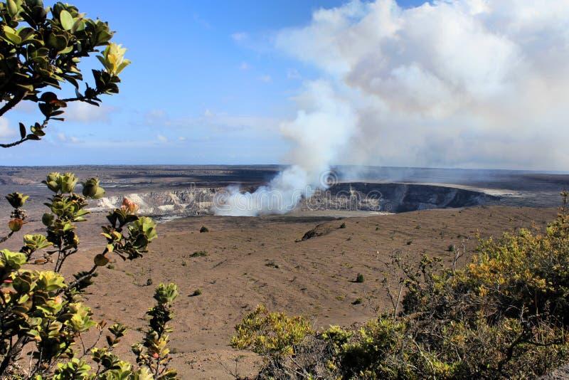 Vulcão de Havaí imagem de stock