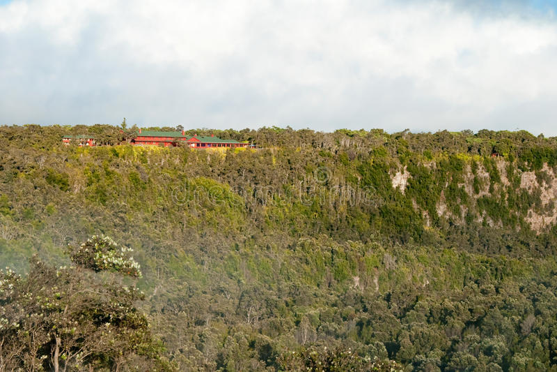 Parque nacional dos vulcões de Havaí na ilha grande imagens de stock royalty free