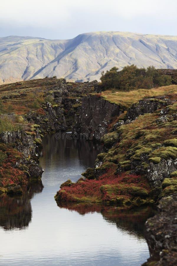 Parque nacional em Islândia imagens de stock