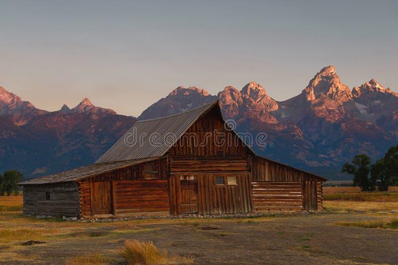 Parque nacional grande de Teton do alvorecer da fileira do mórmon foto de stock