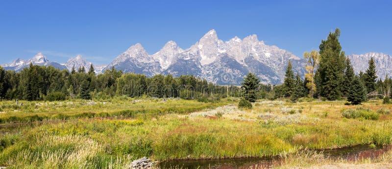 Parque nacional grande de Teton, Wyoming imagem de stock