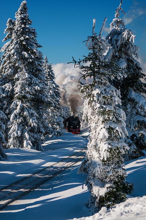 Parque nacional Harz de Brocken del paisaje del invierno fotos de archivo