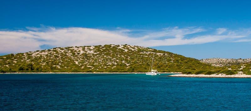 Parque nacional Kornati en Croacia fotografía de archivo libre de regalías