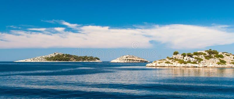 Parque nacional Kornati en Croacia imagen de archivo libre de regalías