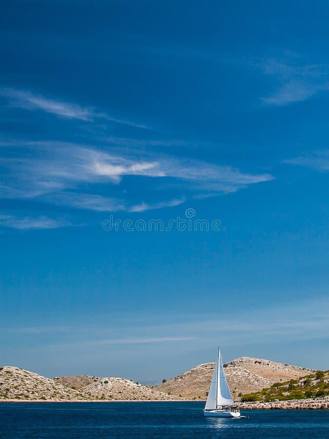 Parque nacional Kornati en Croacia imagenes de archivo