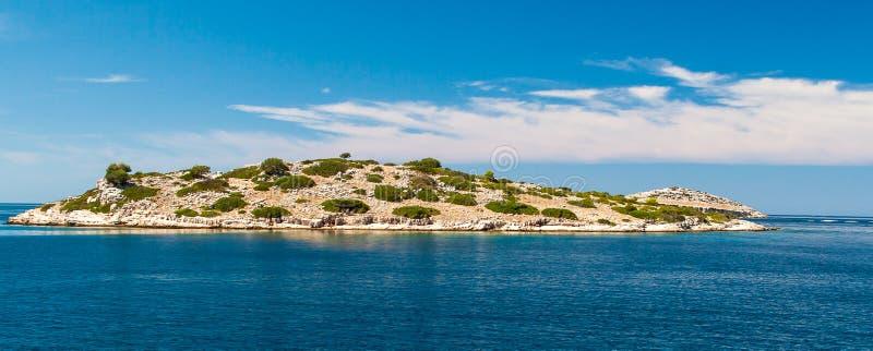 Parque nacional Kornati en Croacia foto de archivo libre de regalías