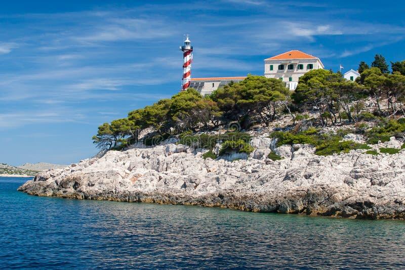 Parque nacional Kornati en Croacia fotos de archivo libres de regalías