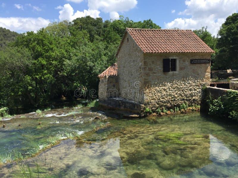 Parque nacional Krka fotografía de archivo