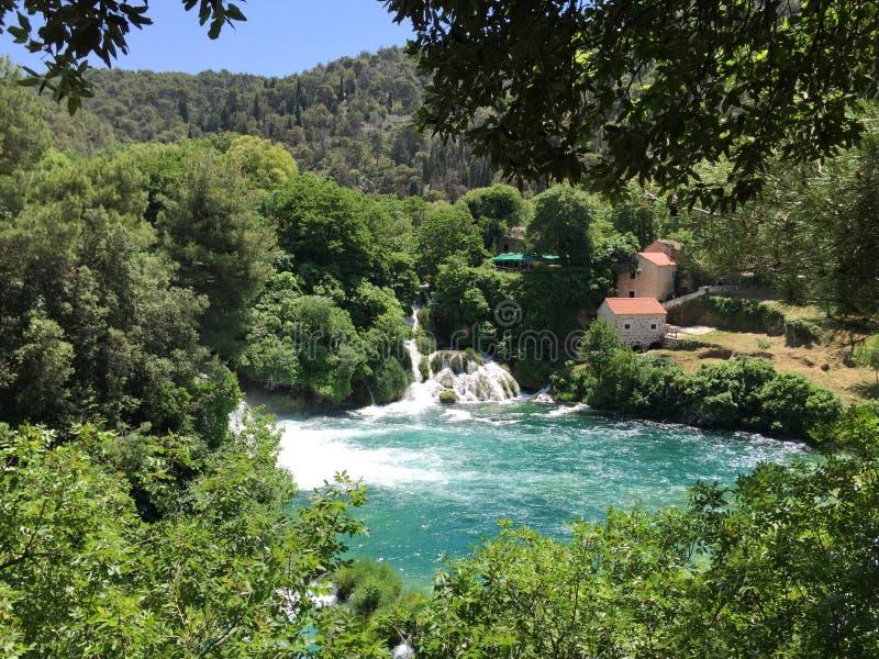 Parque nacional Krka fotografía de archivo libre de regalías