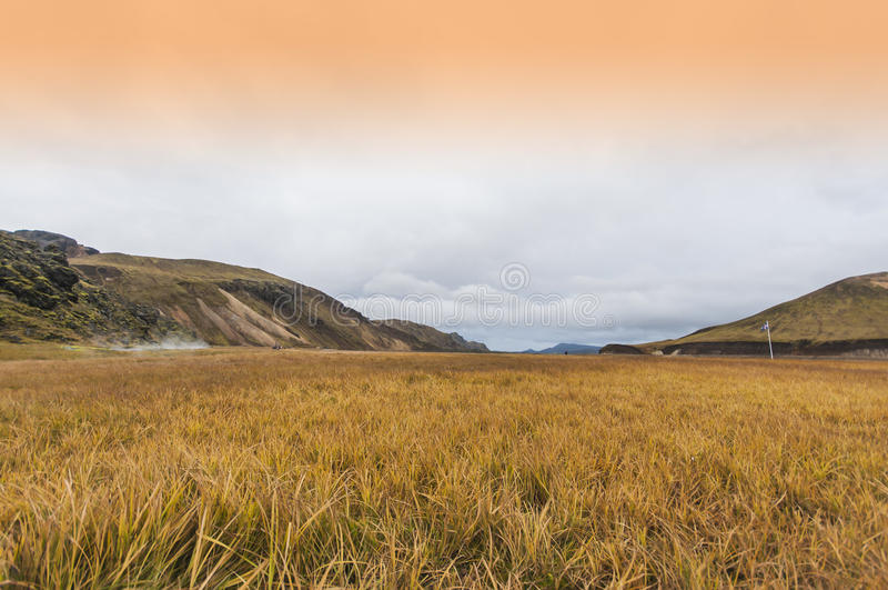 Parque nacional Landmannalaugar do vale imagens de stock