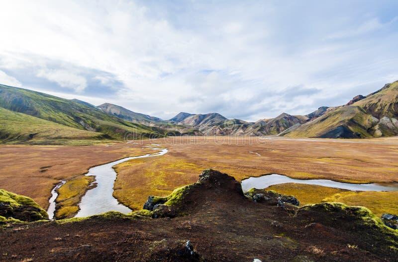 Parque nacional Landmannalaugar do vale imagem de stock