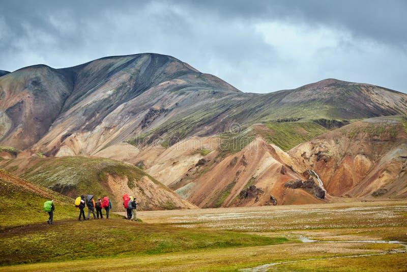Parque nacional Landmannalaugar do vale, Islândia fotografia de stock royalty free