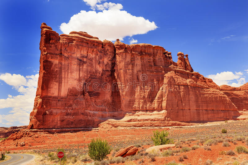 Parque nacional Moab Utah de Babel Rock Formation Canyon Arches de la torre foto de archivo
