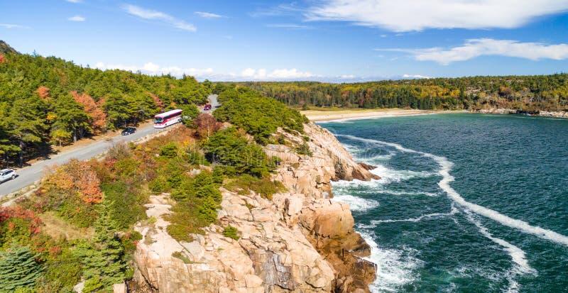 Parque nacional na estação de folha, Maine do Acadia imagem de stock