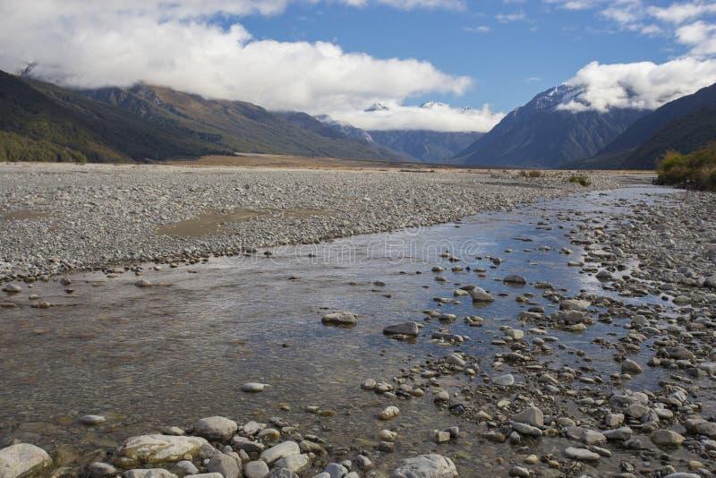 Parque nacional Nueva Zelandia del paso de Arturo fotografía de archivo libre de regalías