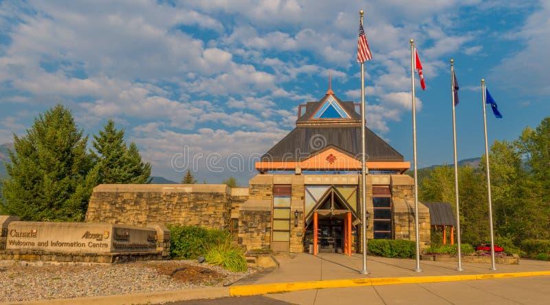 Parque nacional ocidental de geleira do centro da boa vinda & de informação da geleira fotografia de stock royalty free