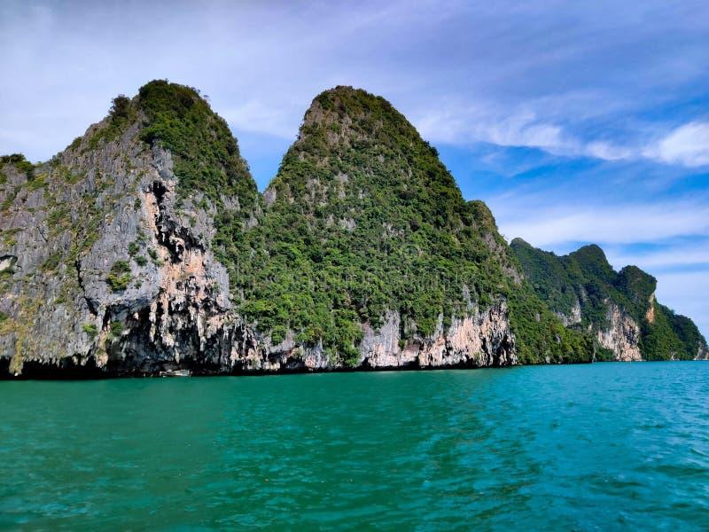 Parque nacional phuket Tailândia da baía de Phang Nga imagem de stock royalty free
