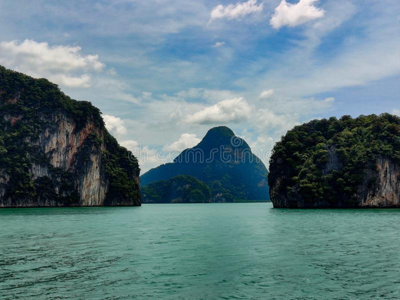Parque nacional phuket Tailandia de la bahía de Phang Nga fotos de archivo