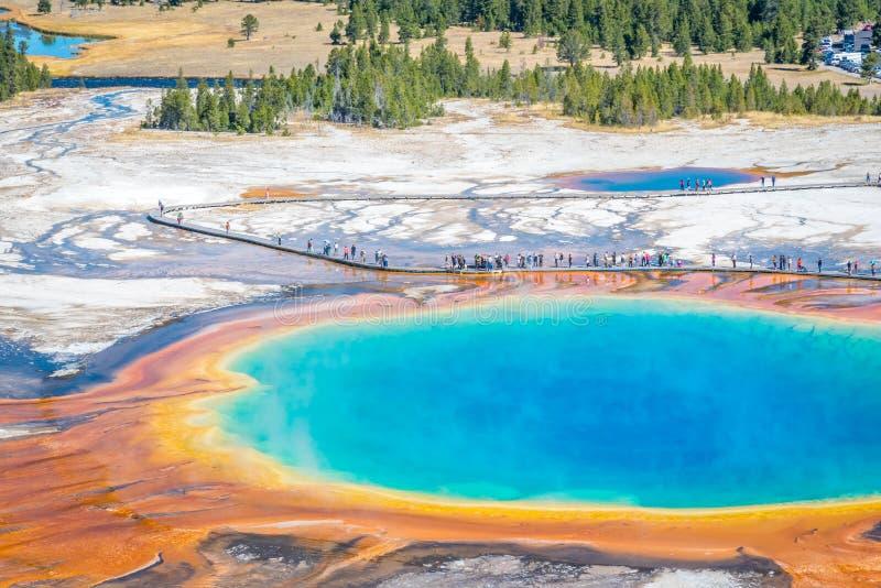Parque nacional prismático grande de Yellowstone da mola quente fotografia de stock royalty free