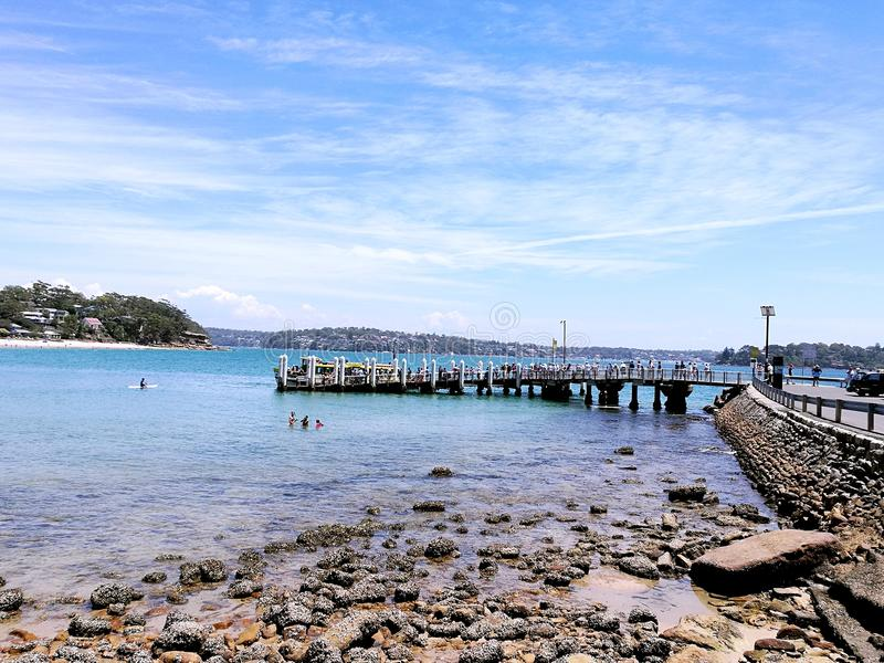 Parque nacional real da praia de Bundeena @, Sydney fotografia de stock royalty free