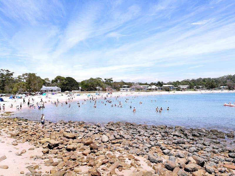 Parque nacional real de la playa de Bundeena @, Sydney fotografía de archivo