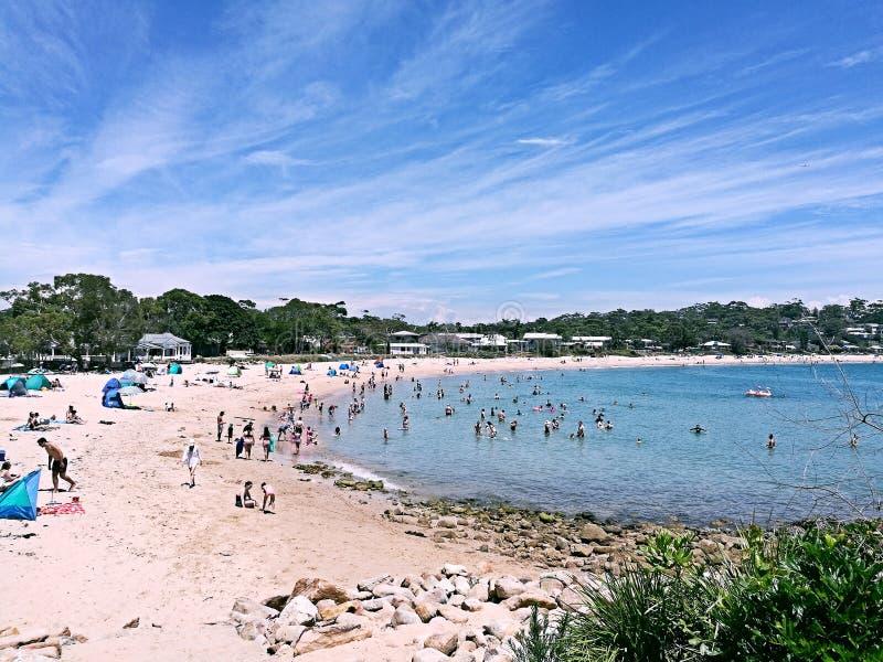 Parque nacional real de la playa de Bundeena @, Sydney foto de archivo libre de regalías