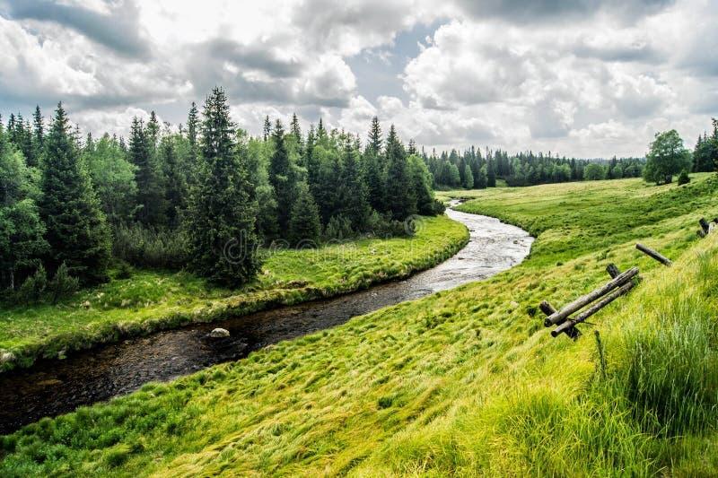 Parque nacional Sumava - pizarra de Modravske fotos de archivo
