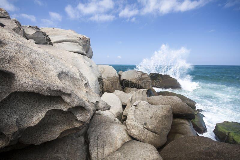 Parque Nacional Tayrona Wave immagini stock libere da diritti