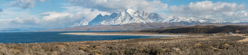 Parque Nacional Torres del Paine in Chile stock photos