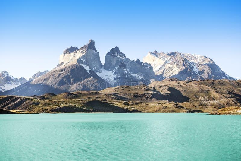 Parque nacional Torres del Paine, o Chile. foto de stock royalty free