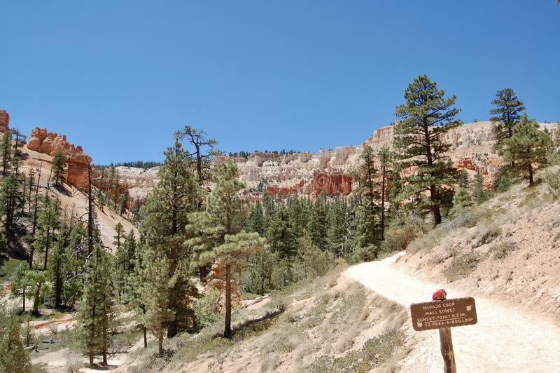 Parque nacional Utá da garganta de Bryce imagem de stock