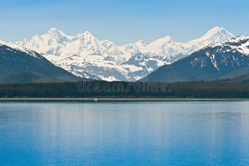 Parque nacional y coto de la bahía de glaciar foto de archivo