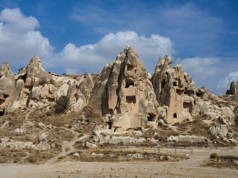 Parque nacional y el museo de Cappadocia, provincia de Nevsehir, Anatolia Region central de Goreme del aire abierto de Turqu?a fotografía de archivo libre de regalías