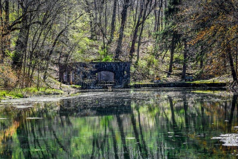 Parque natural da mola de Paradise - Eagle, Wisconsin imagem de stock royalty free