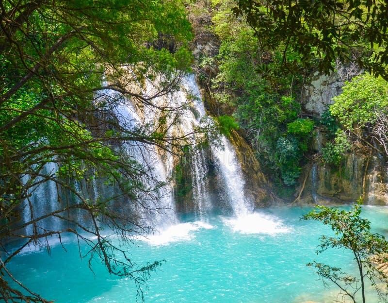Parque natural del EL Chiflon, Chiapas, México 25 de mayo imágenes de archivo libres de regalías