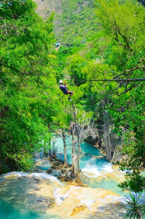Parque natural del EL Chiflon, Chiapas, México, el 21 de mayo fotos de archivo