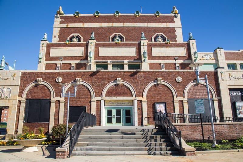 Parque NJ de Asbury del teatro de Paramount imagen de archivo