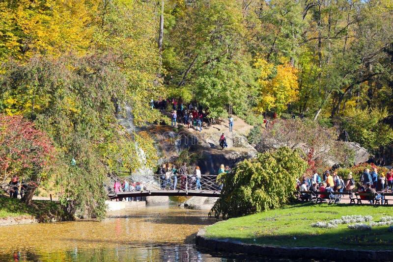Parque no outono, nas árvores e no lago outono, paisagem, cores Cor, colorida fotos de stock