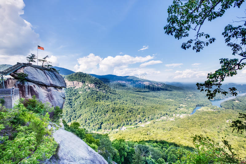 Parque North Carolina da rocha da chaminé foto de stock