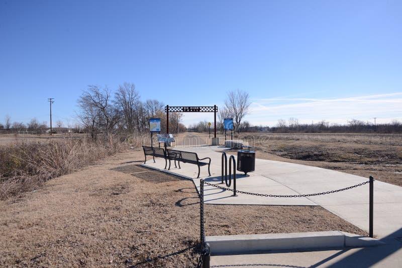 Parque ocidental de Memphis Arkansas Big River Trail foto de stock