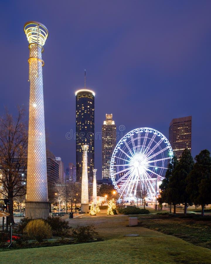 Parque olímpico centenário em Atlanta imagens de stock