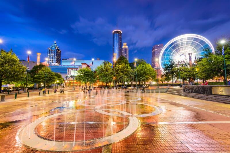 Parque olímpico centenário em Atlanta imagem de stock