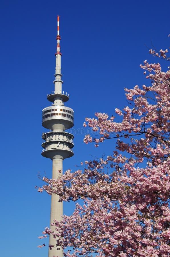 Parque olímpico de Munich imagens de stock
