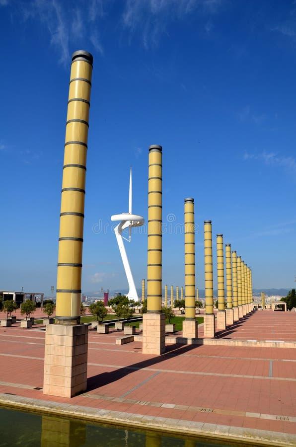 Parque olímpico em Barcelona, Espanha foto de stock royalty free