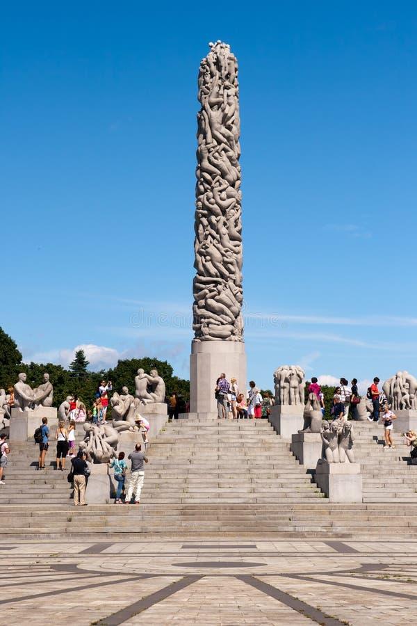 Parque Oslo de Vigeland fotografía de archivo
