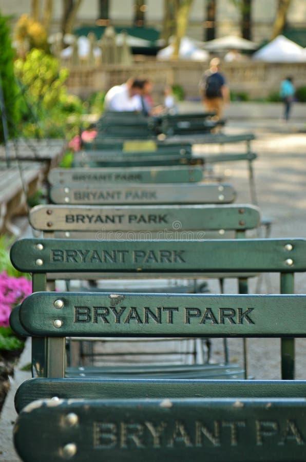 Parque público de Bryant Park New York City Manhattan foto de archivo