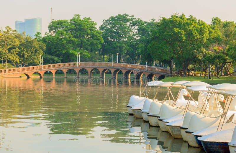 PARQUE PÚBLICO DE JATUJAK, BANGUECOQUE, TAILÂNDIA 5 DE FEVEREIRO DE 2017: A opinião da paisagem de um parque público imagens de stock royalty free