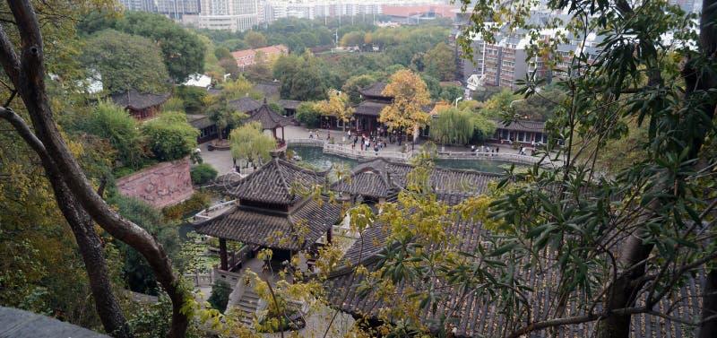 Parque pequeno Wuhan China fotografia de stock royalty free